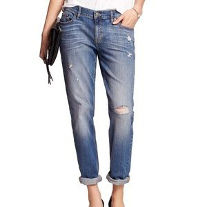 BANANA REPUBLIC Medium Wash Petit Distressed Jeans